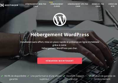 hébèrgement WordPress hostinger