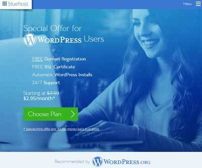 Hébergement WordPress BlueHost
