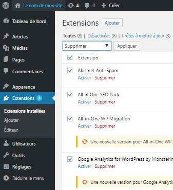Créer son blog - plugins wordpress